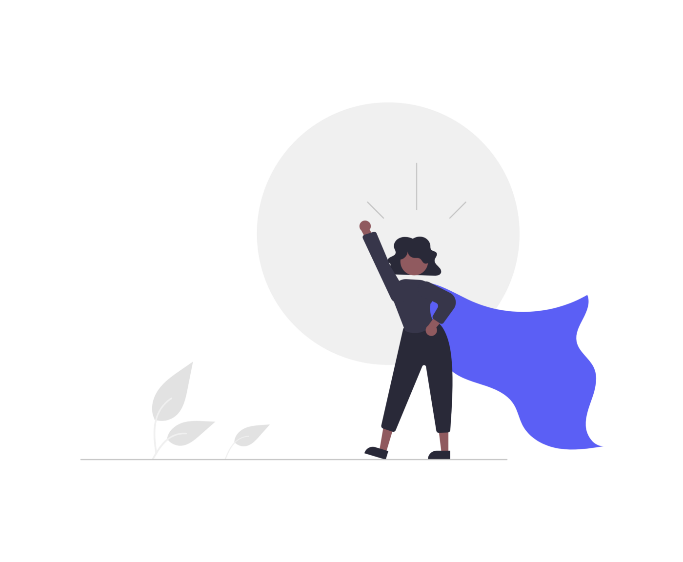 A person wearing a long flowing cape raises their fist in triumph.