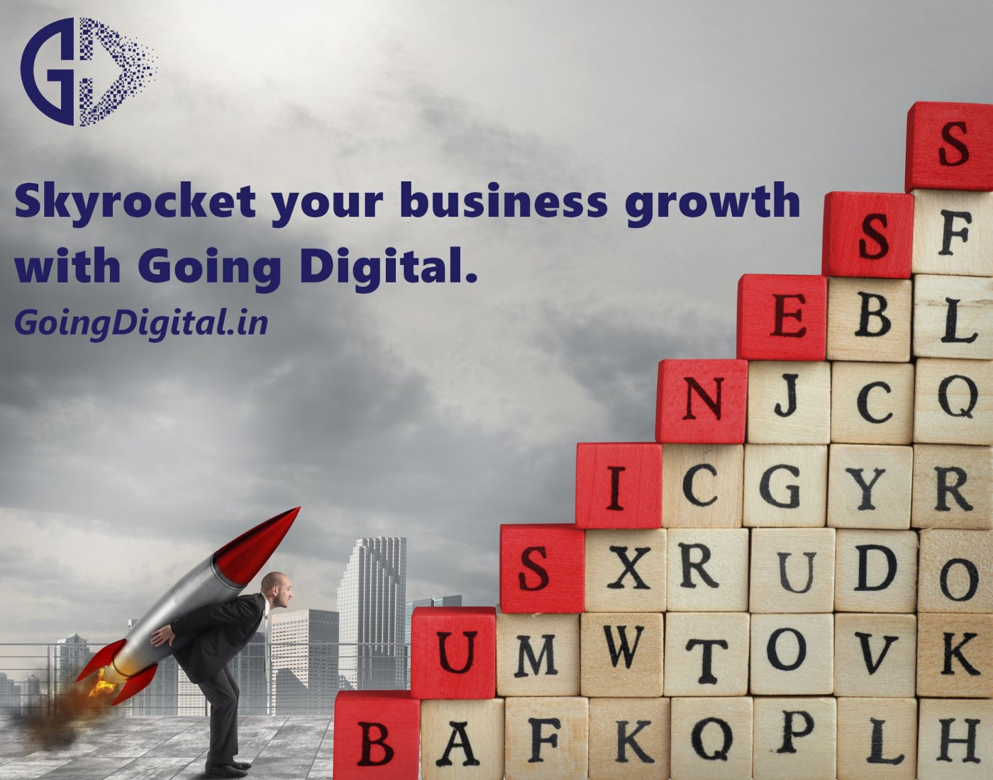 Skyrocket your business growth even in these tough times by Going Digital