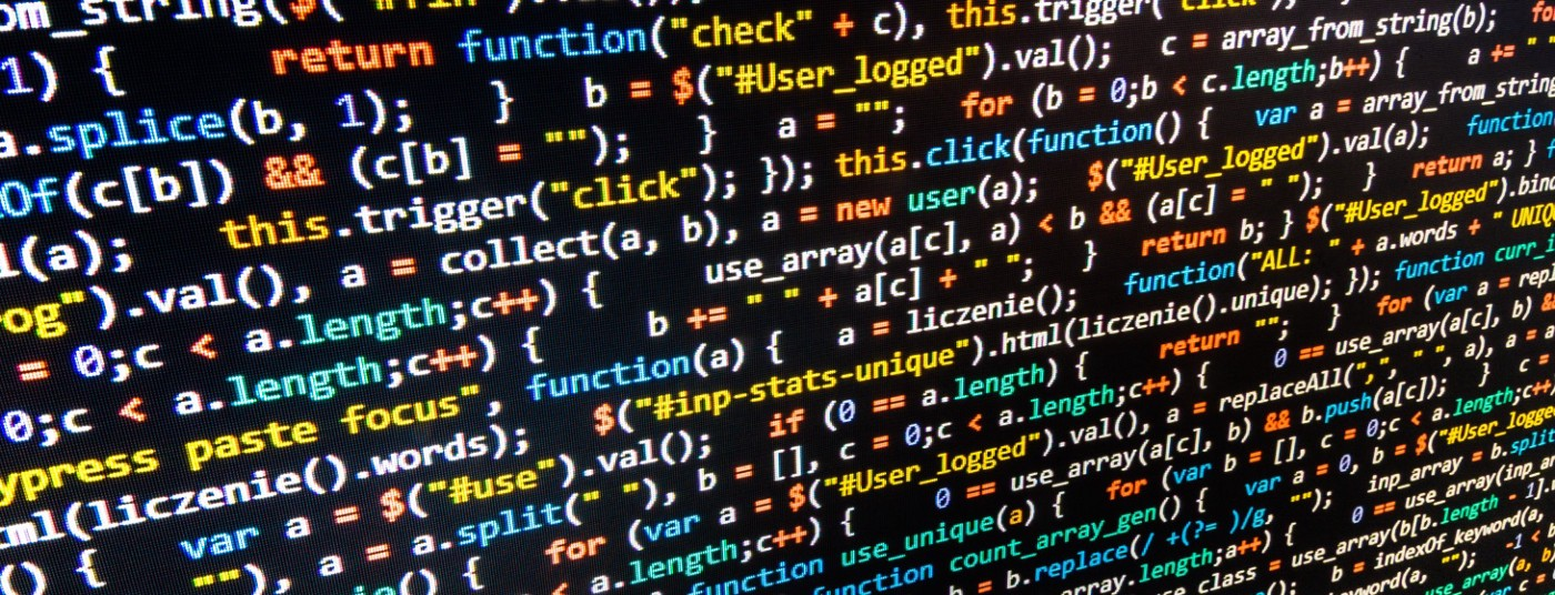 Picture of a wall of code because it's a pretty picture to open a general programming blogpost