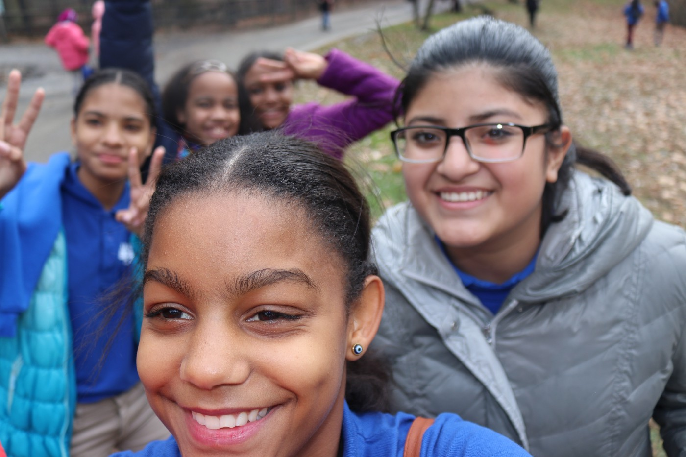 Students from the Lilla G. Frederick Pilot Middle School