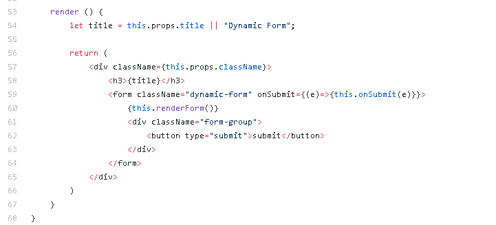 ReactJS — A quick tutorial to build dynamic JSON based form