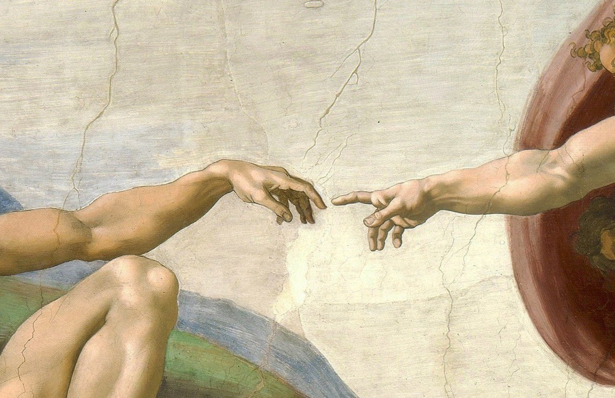 "Michael Angelo's ""The Creation of Adam"""