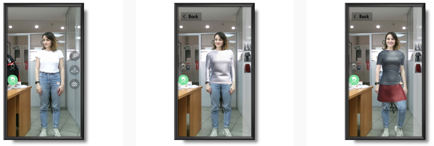 virtual fitting room picture