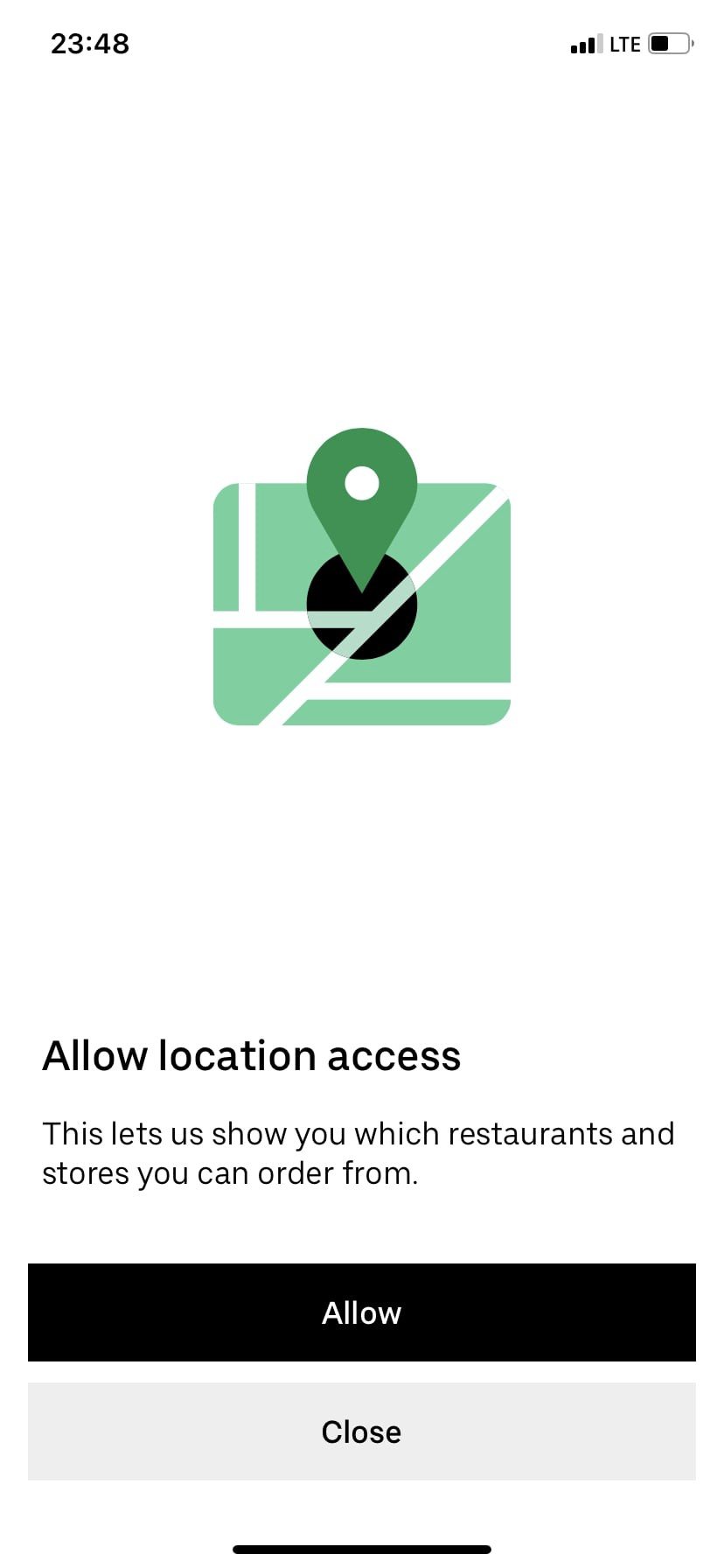 Allow location access