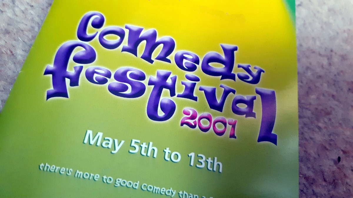A rare copy of the 2001 Birmingham Comedy Festival brochure. The debut festival ran from May 5 to May 13, 2001.