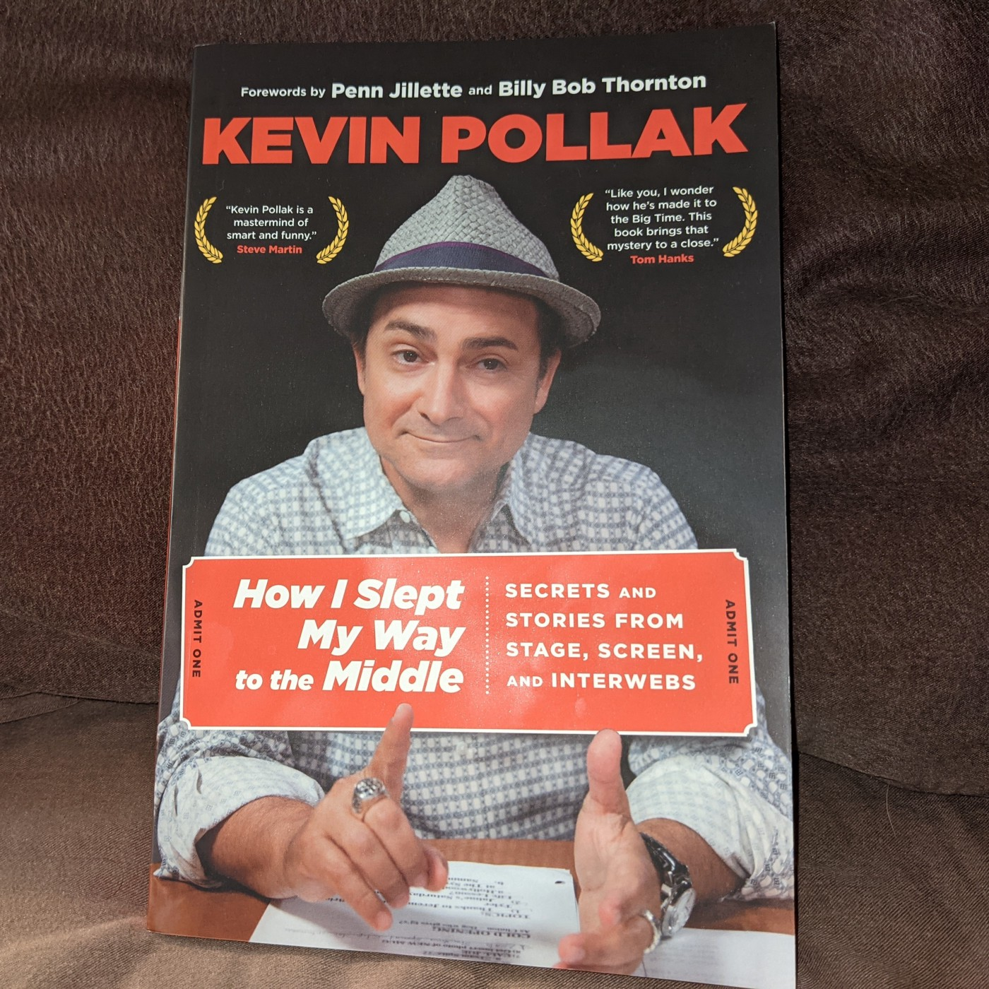 Cover of book by comedian Kevin Pollak