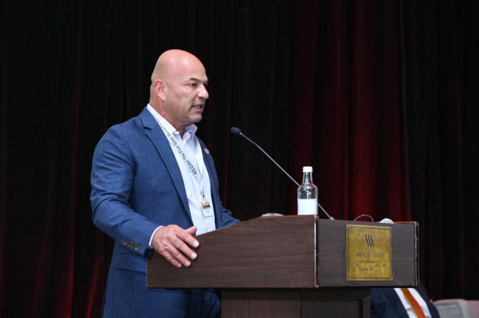 AgCoin Founder and CEO Martin Mobarak live on stage at 14th Edition of Sir Anthony Ritossa Family Office Global Conference, in Dubai, March 2021