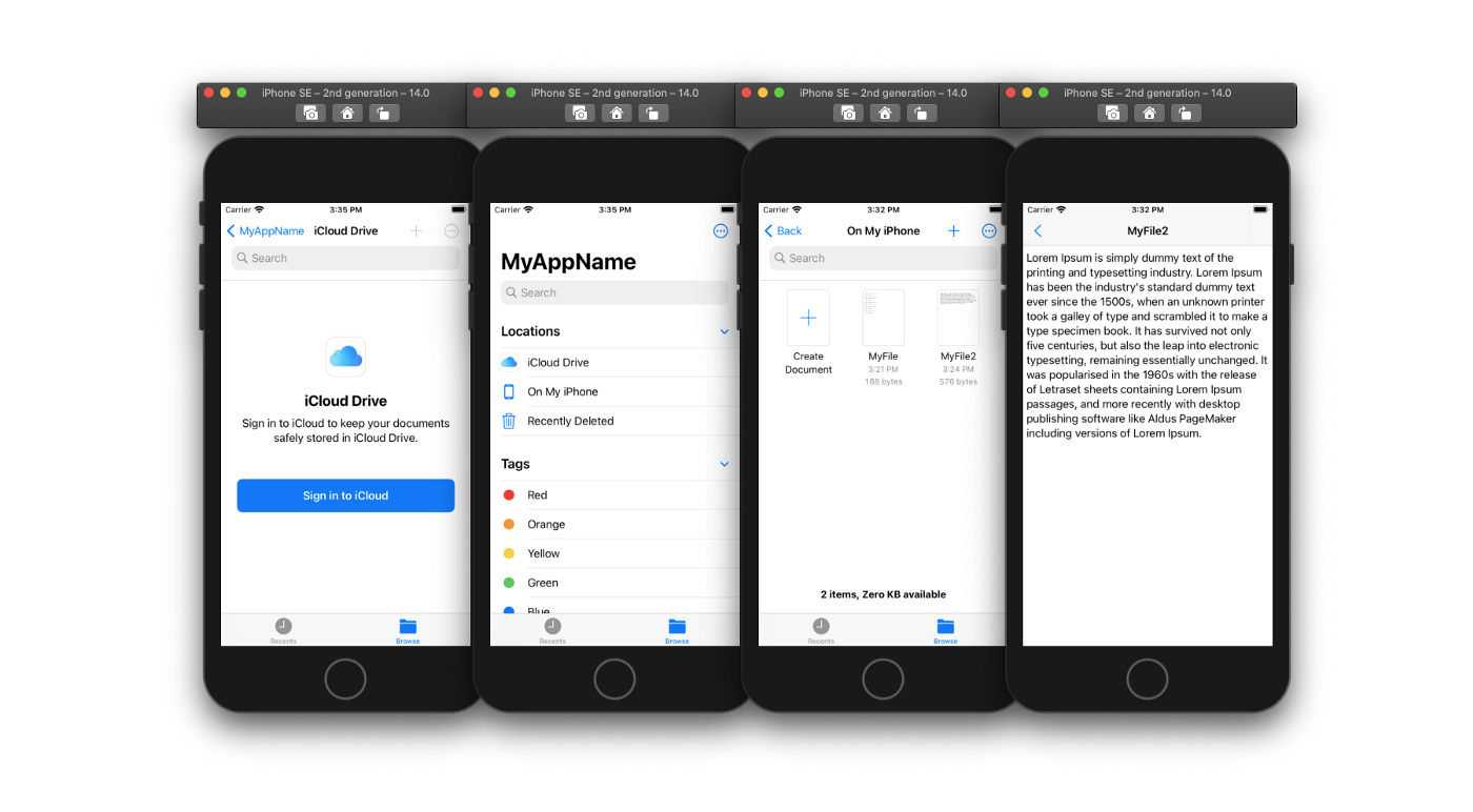 Text document-based app