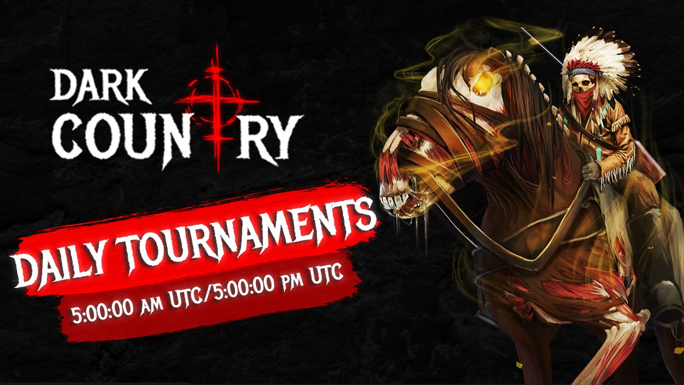 Let the Battle begin: Dark Country Daily Tournaments 2021📣 We are launching Dark Country Daily Tournaments! Join to win precious rewards and kick some ass!💣 This is TOTALLY free to join, NO tickets required! Daily tournaments will take place twice a day EVERYDAY at 5:00:00 am UTC/5:00:00 pm UTC 💀 First week — Sheriff`s Office members ONLY.