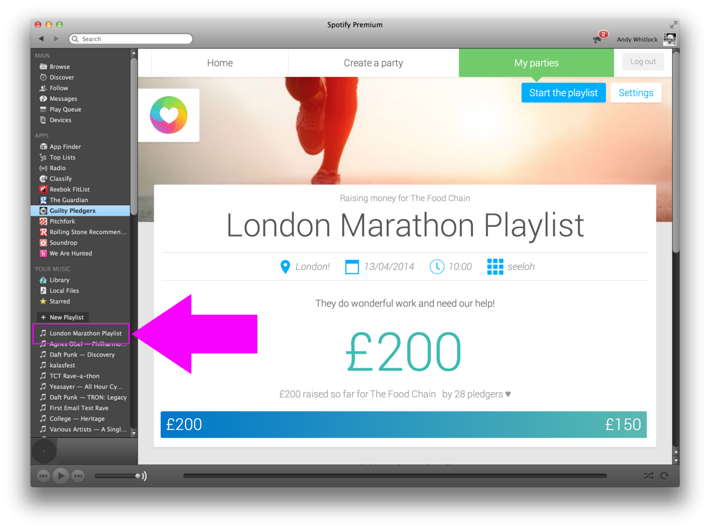 Create your London Marathon playlist whilst fundraising