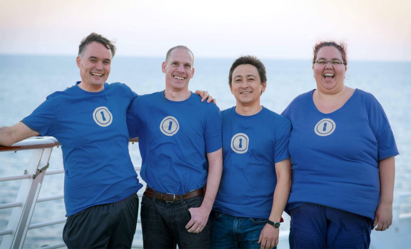 Our executive team, a.k.a. the Gang of Four. From left to right: Dave Teare, Jeff Shiner, Roustem Karimov, and Sara Teare.