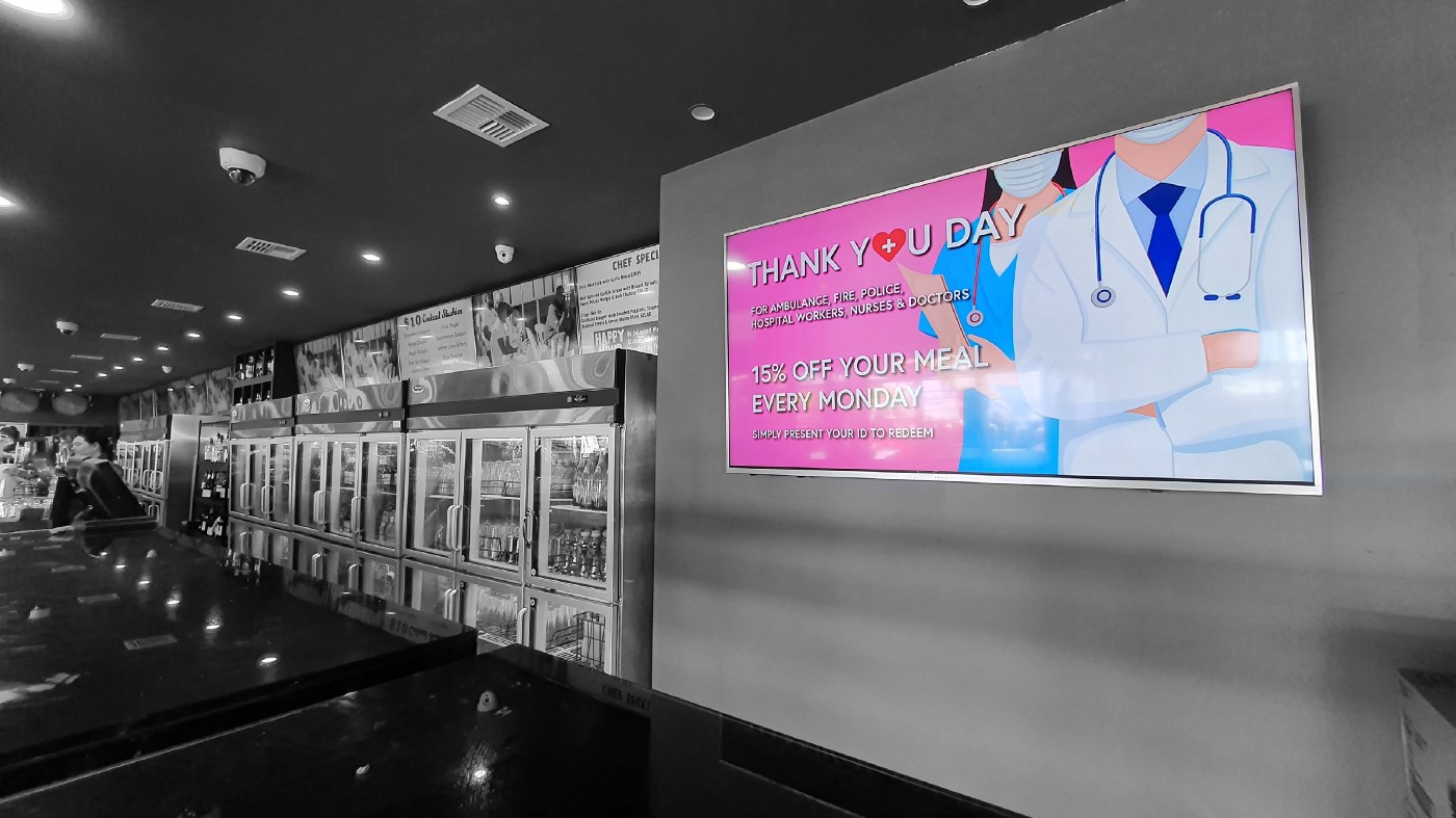 Photo and edit by: The Technologenius © 2021, Project: Cheap and Easy DIY Digital Signage
