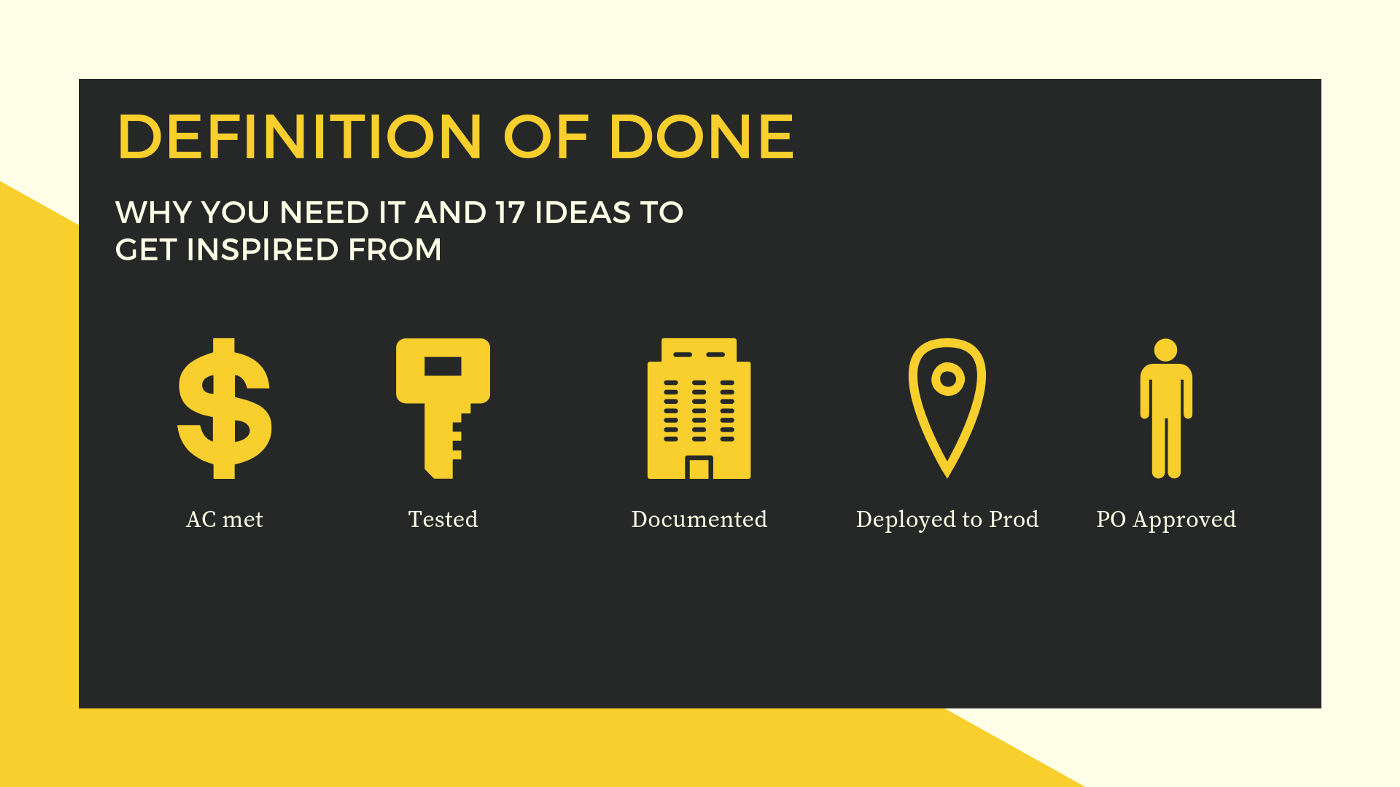 User Story Definition of Done (DOD) in Agile, Scrum