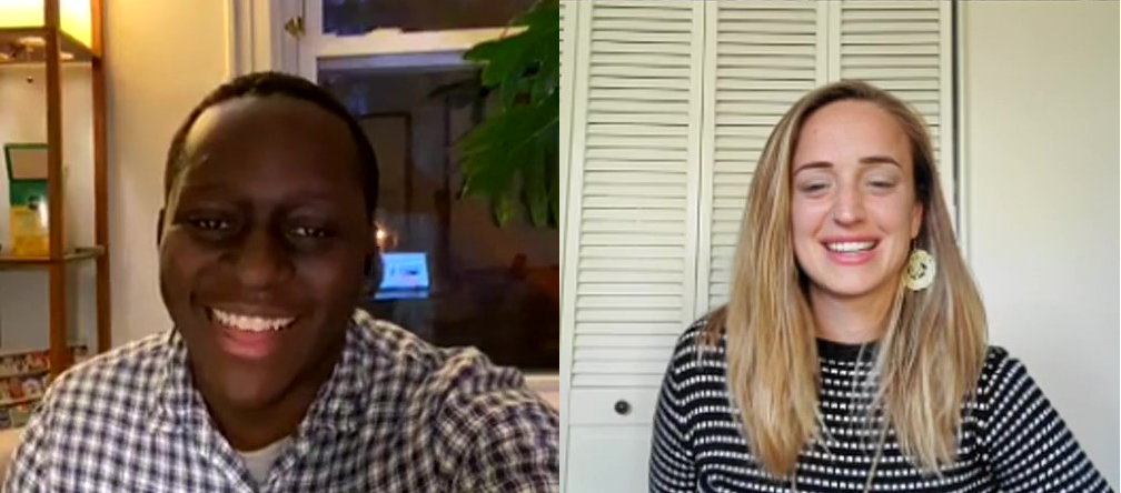 Akpanoluo Etteh and Marcie Grambeau on Instagram Live