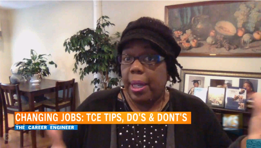 The Career Engineer (Francina Harrison) on a Television Interview