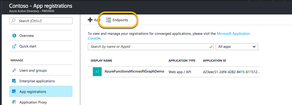 Using Azure Functions with the Microsoft Graph and BING Translator API's