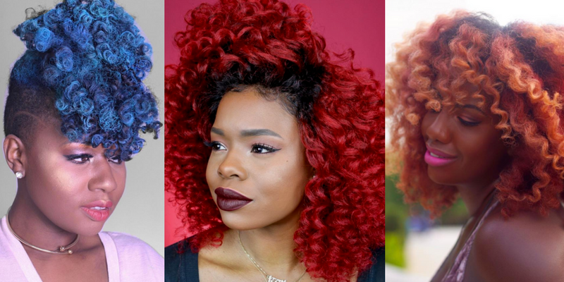 ombre hairstyles with 4c hair