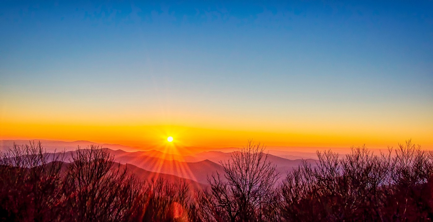 Sunset in the Great Smokey Mountain National Park