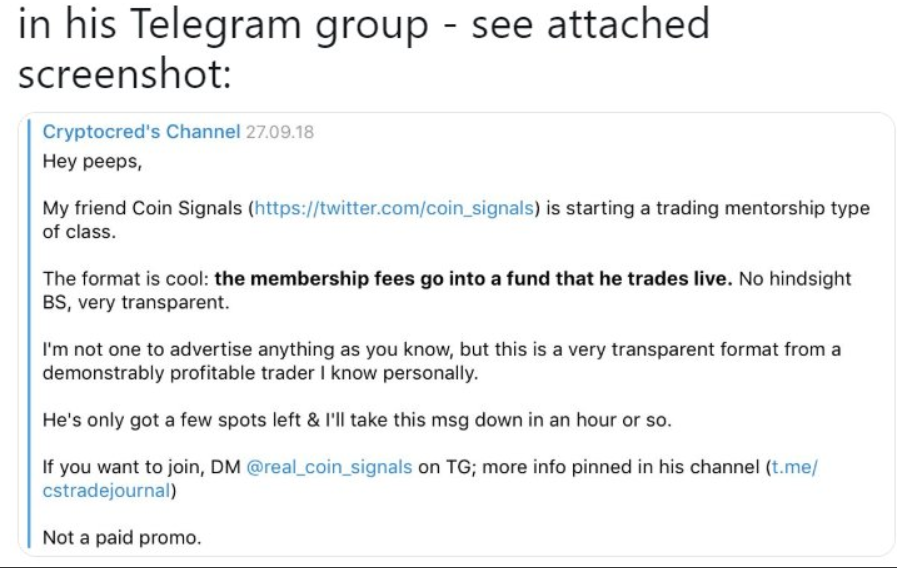 Timeline of the CoinSignals Scam - Coinmonks - Medium