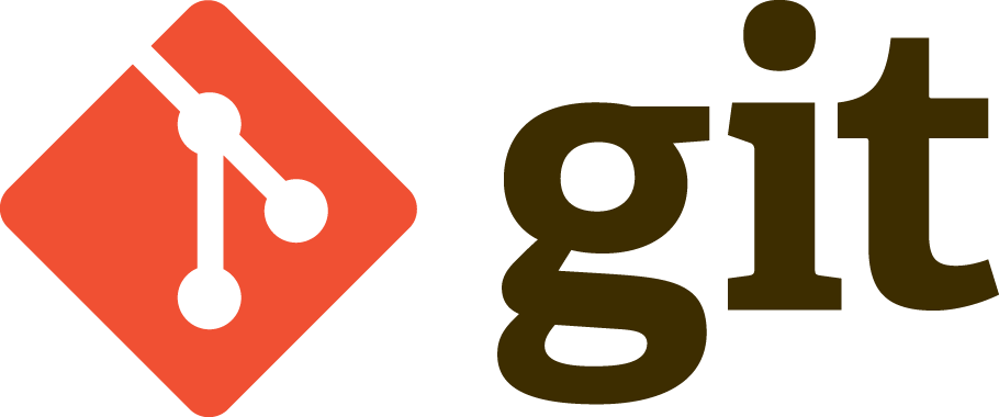 Red and brown Git logo from the official documentation site of Git.