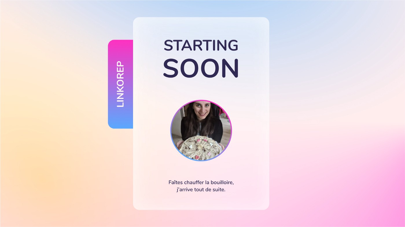 Linkorep's starting soon screen on Twitch