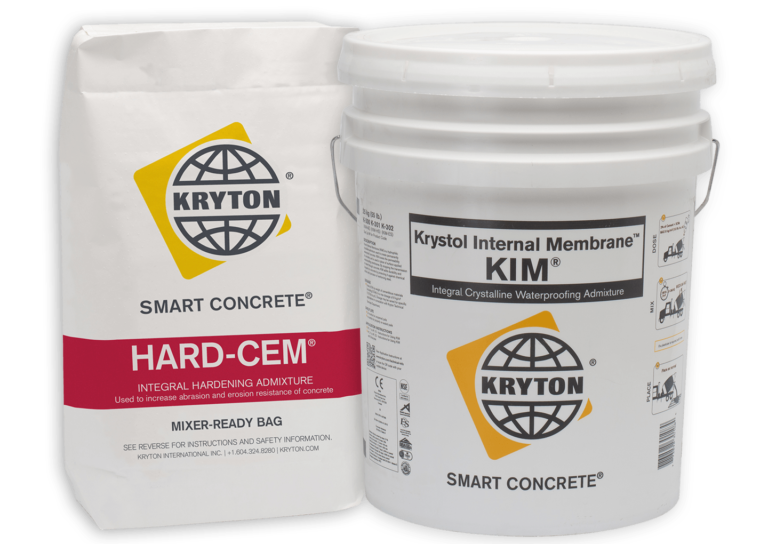 Kryton's KIM and Hard-Cem admixtures ready to optimize building space.