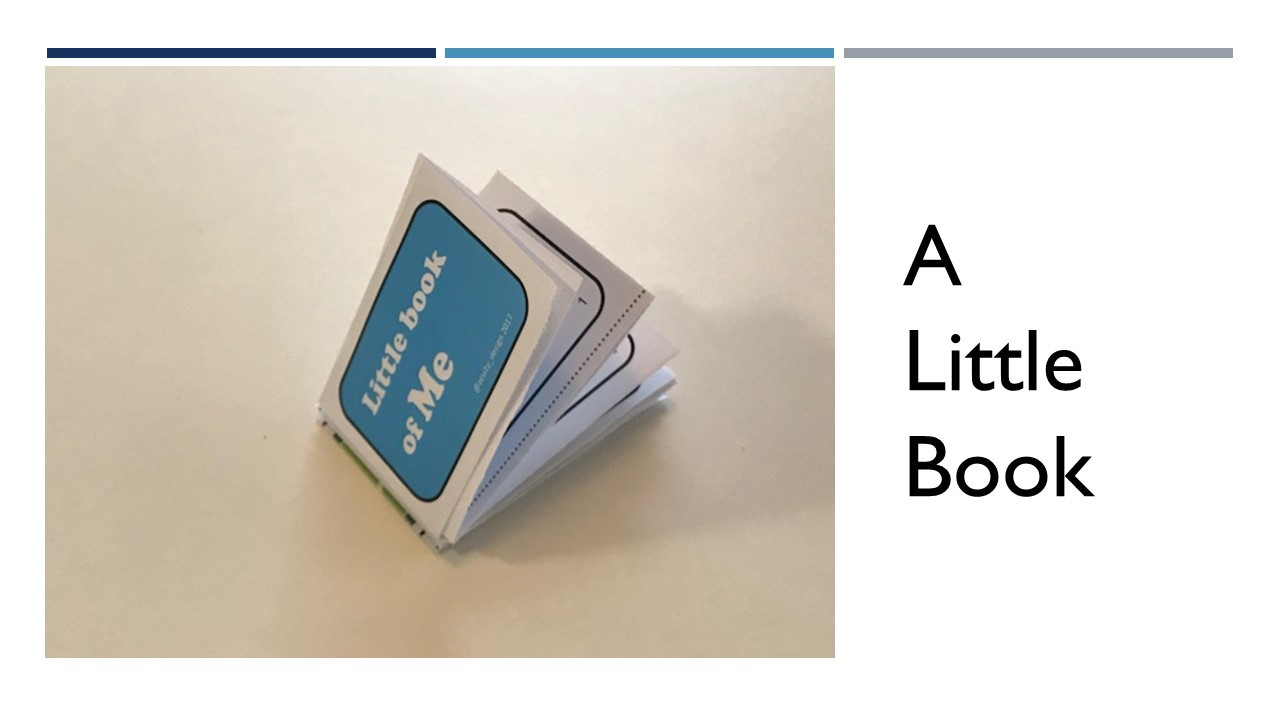 a small folded book