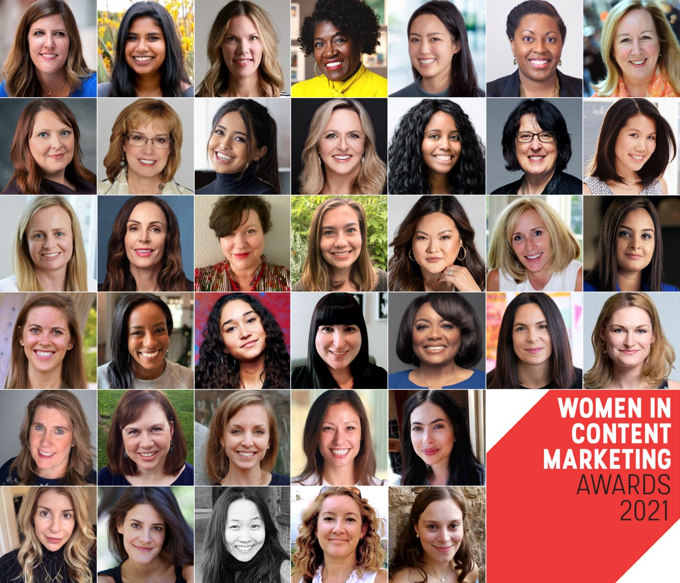 Photos of the finalists of the Women in Content Marketing Awards