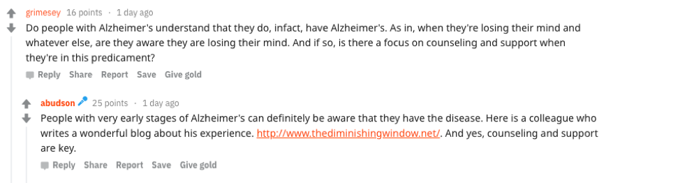 Reddit AMA Outlines 8 Things You Should Know About Alzheimer's