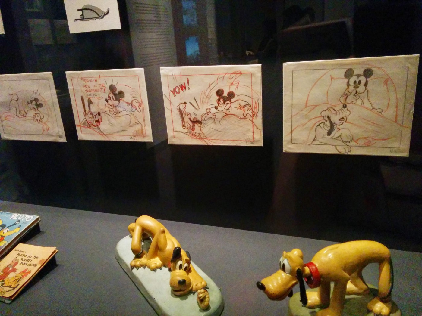 Sketches on display in The Walt Disney Family Museum