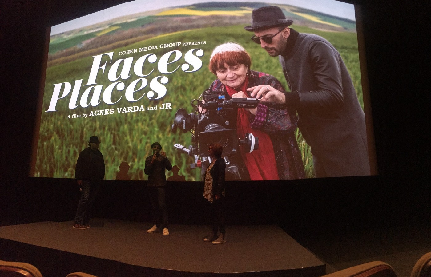 Faces Places screening at the Letterman Digital Complex in the Presidio, San Francisco, CA.