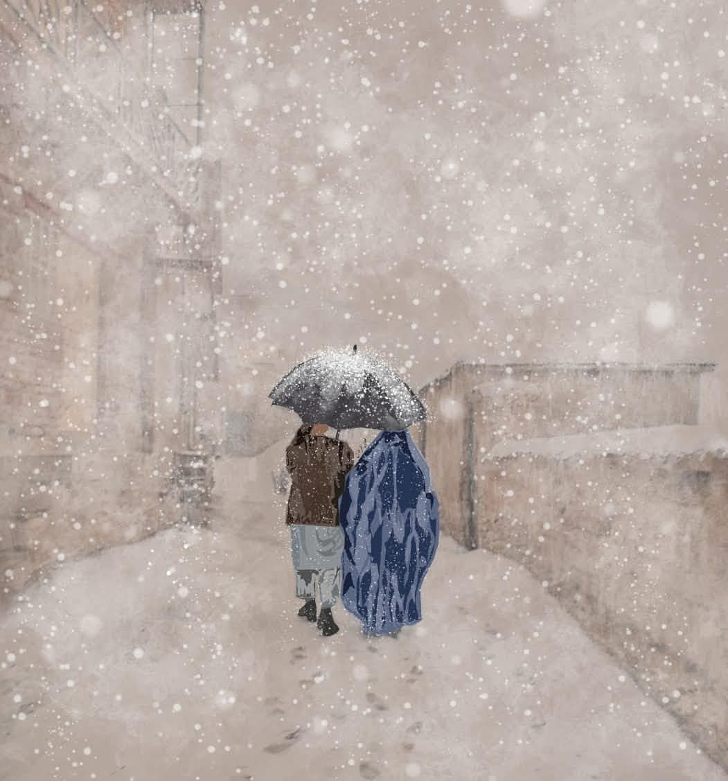 First Snowfall    couple story