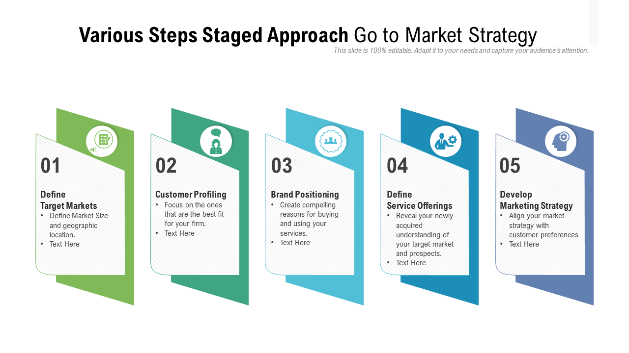 Go to Market Strategy PPT Template Diagram