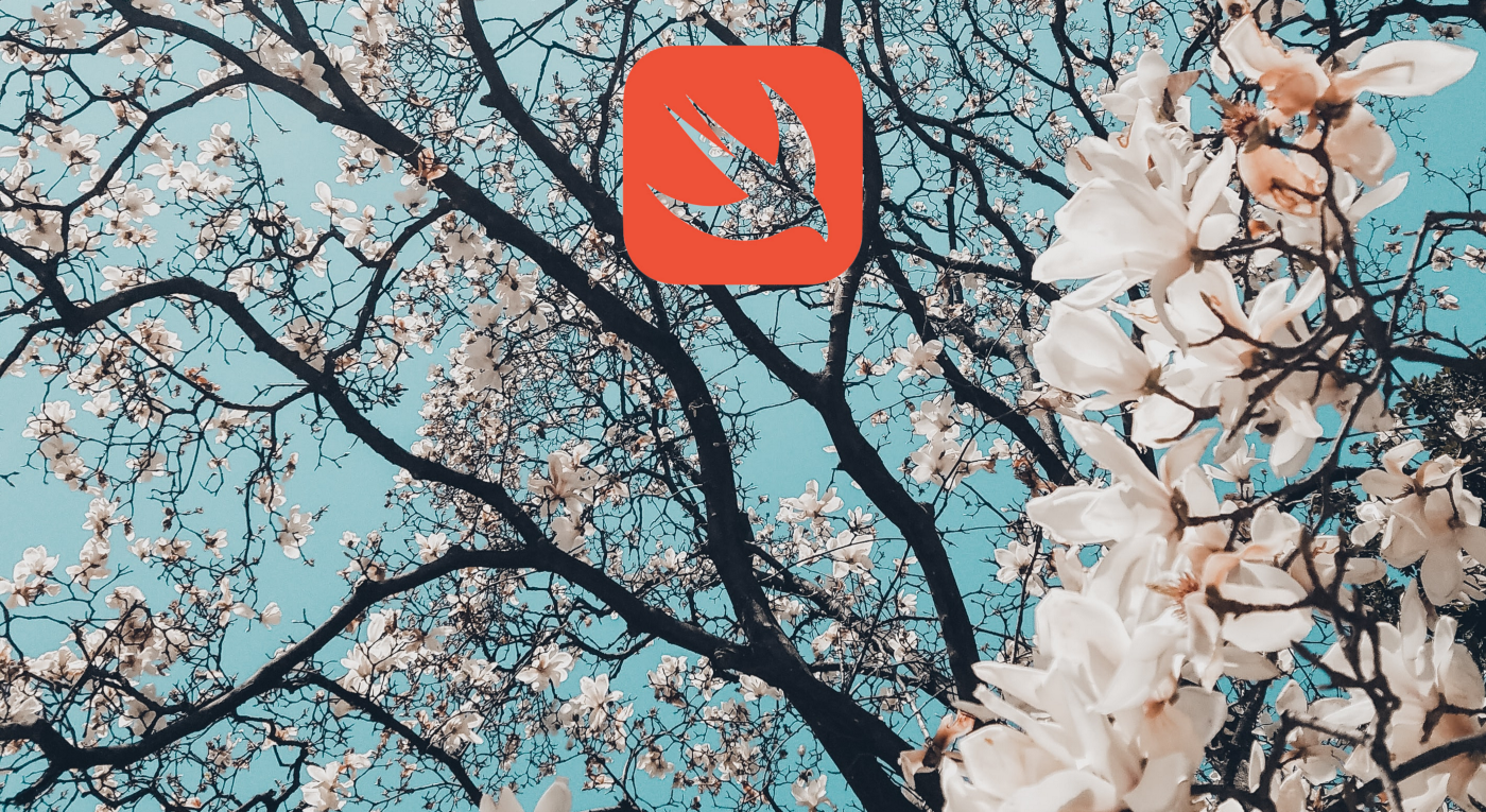 blossoming tree with Swift logo superimposed