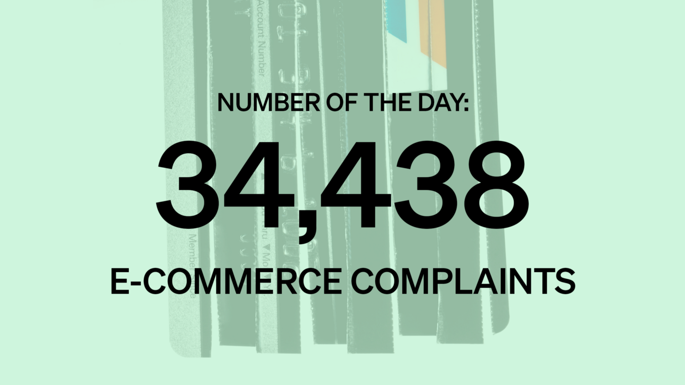 Number of the Day: 34,438 E-Commerce Complaints