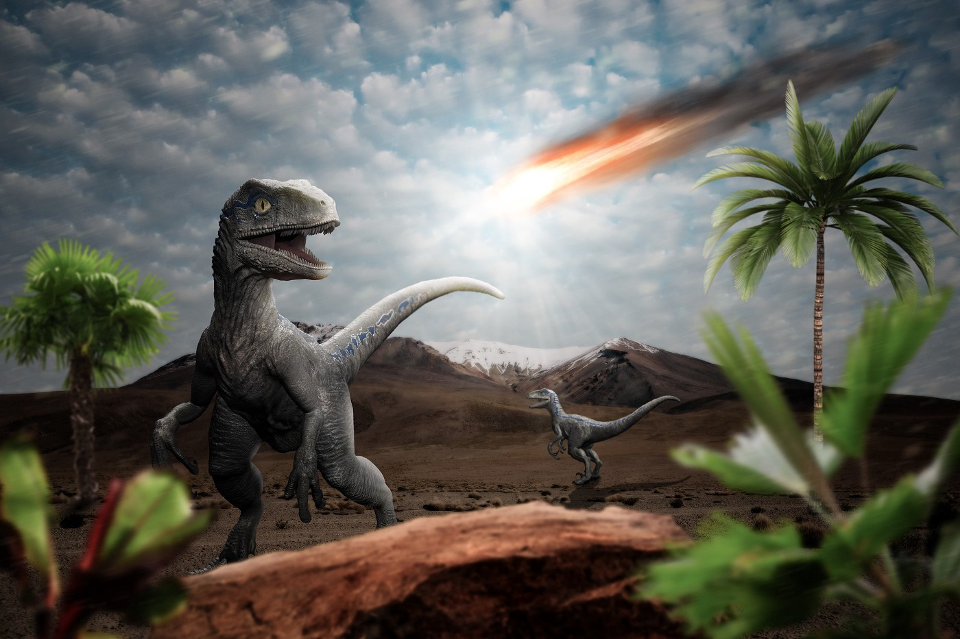 An asteroid wiped out the dinosaurs.