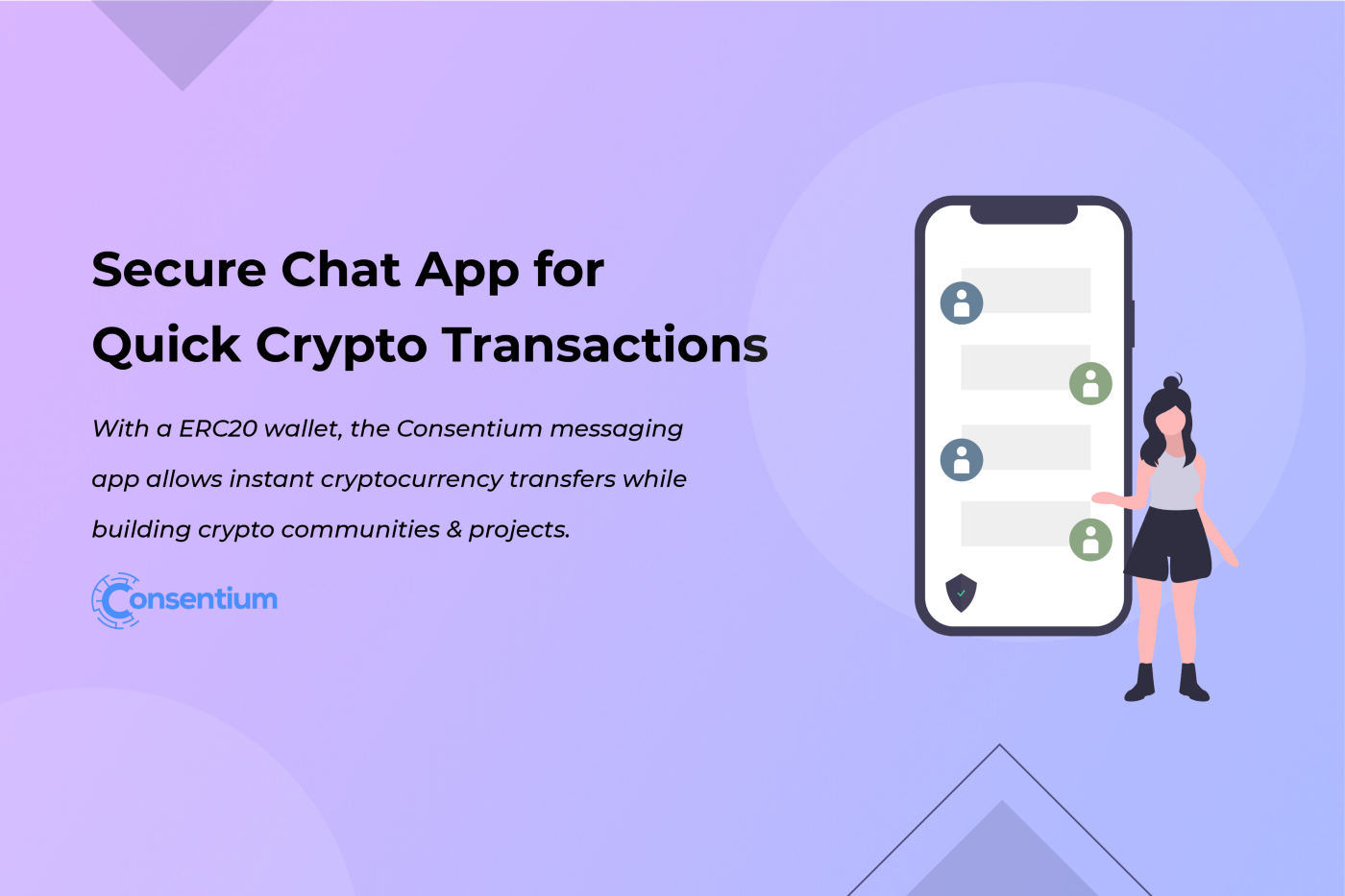 Secure Chat App for Quick Crypto Transactions | Consentium