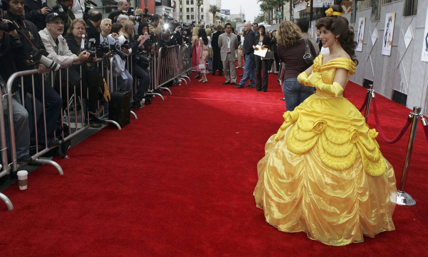 """Disney character Belle at the Walt Disney premiere of """"The Ice Princess"""" on March 13, 2005 in Hollywood, California."""