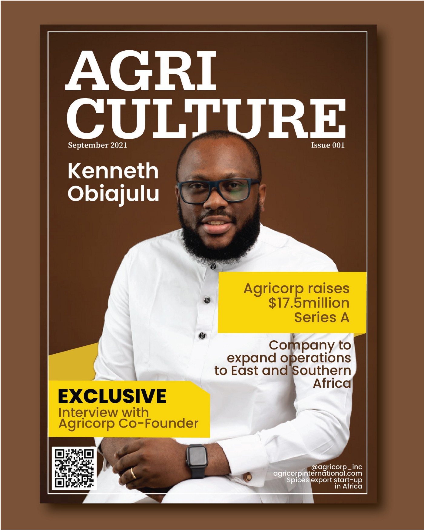 Interview and press release with Kenneth Obiajulu, Agricorp CEO
