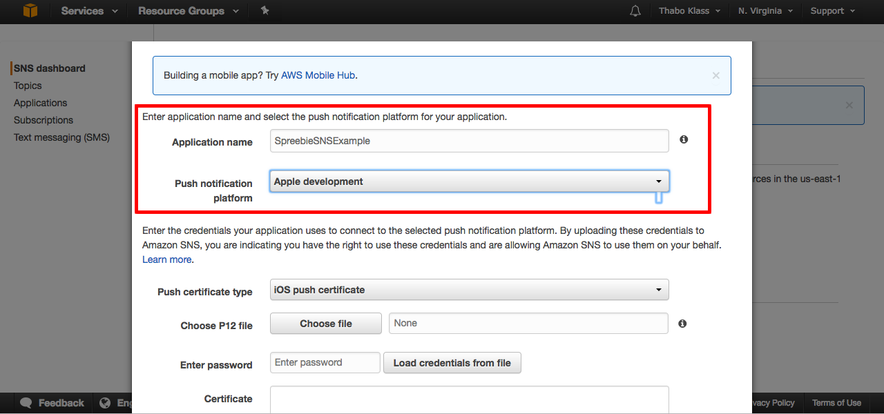 iOS Push with Amazon's AWS Simple Notifications Service (SNS) and