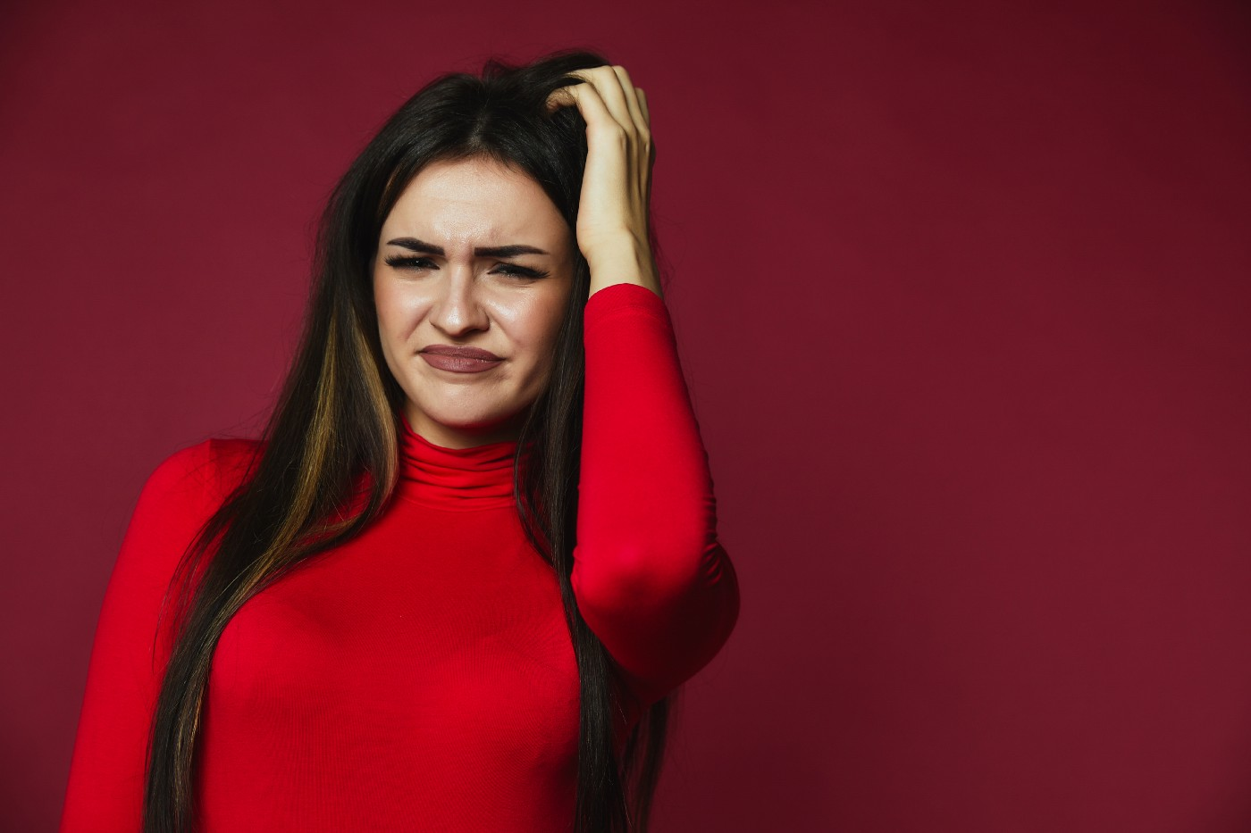 Woman, confused and frustrated by one-sided, unbalanced friendship