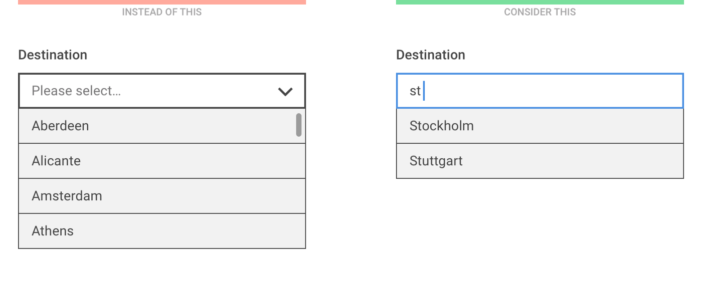 Dropdown alternatives for better (mobile) forms - Zoltan Kollin - Medium