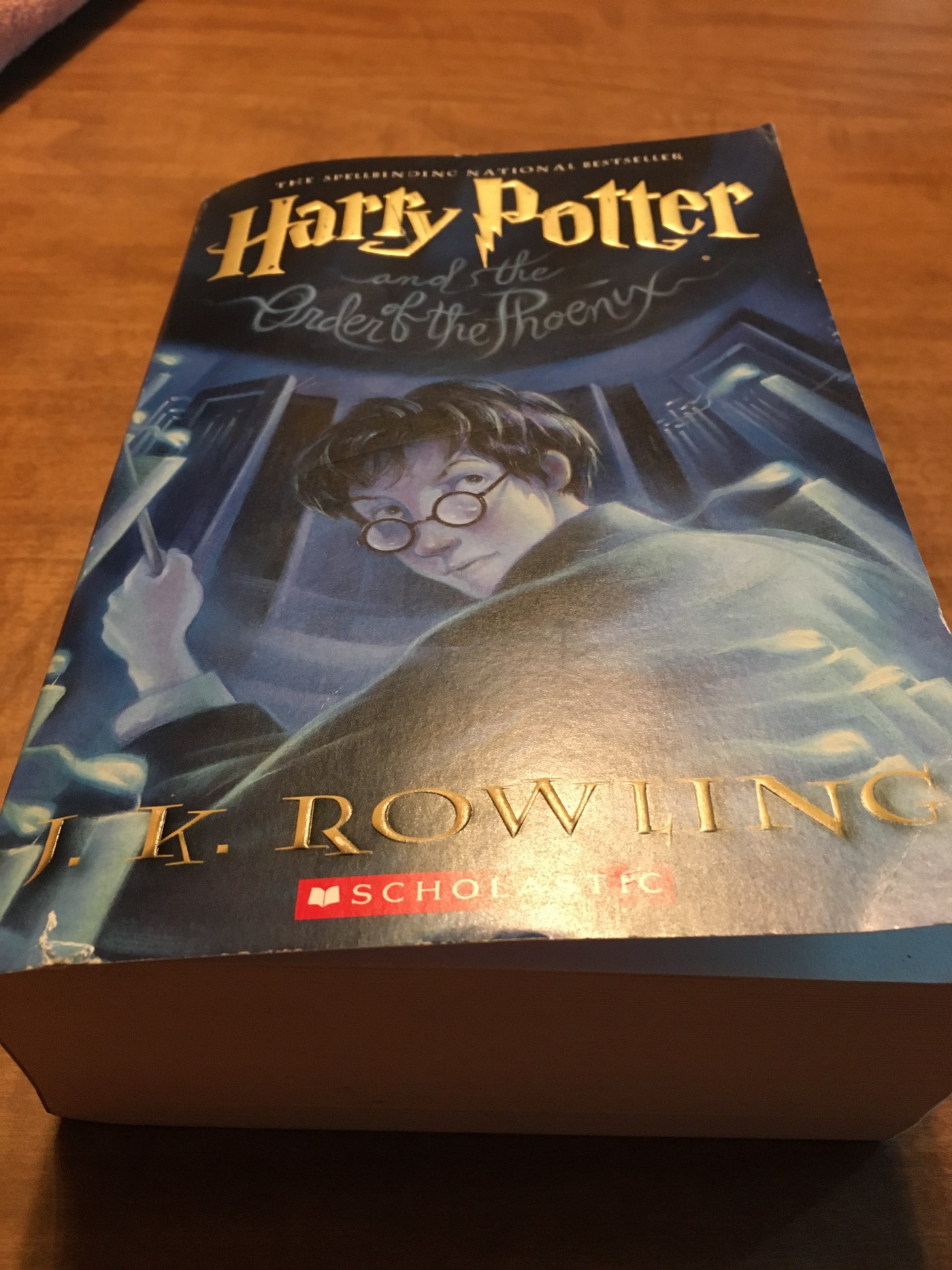 A paperback copy of Harry Potter and the Order of the Phoenix