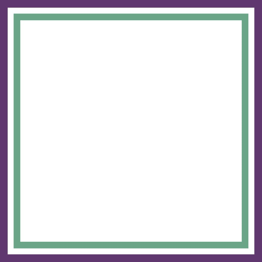 Blank canvas, with suffragette colours frame (purple, white and green).