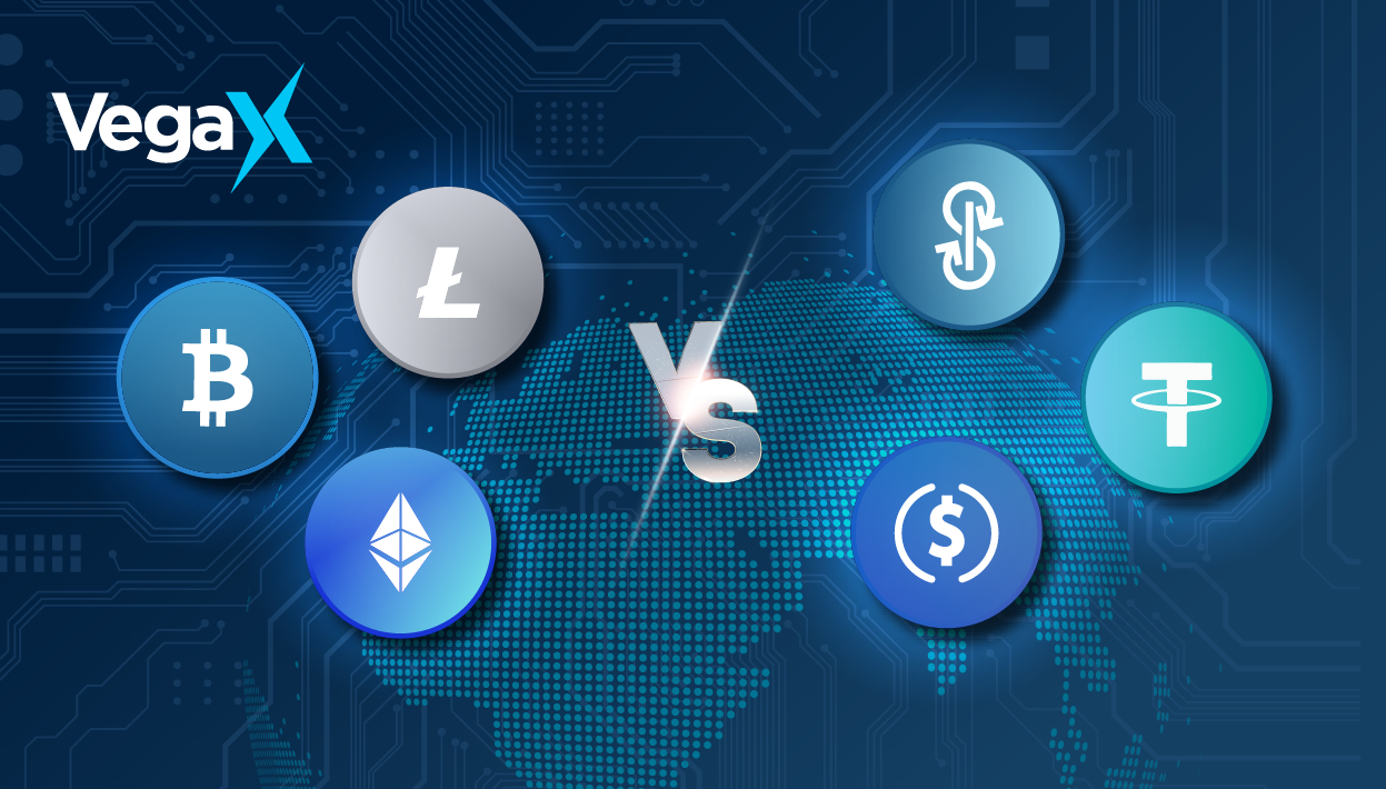 Logos of cryptocurrencies and tokens