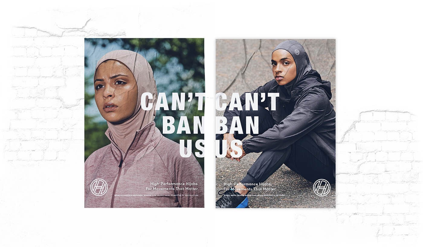 """Haute Hijab's """"Can't Ban Us"""" campaign."""