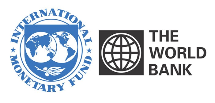 Logos of the International Monetary Fund and the World Bank