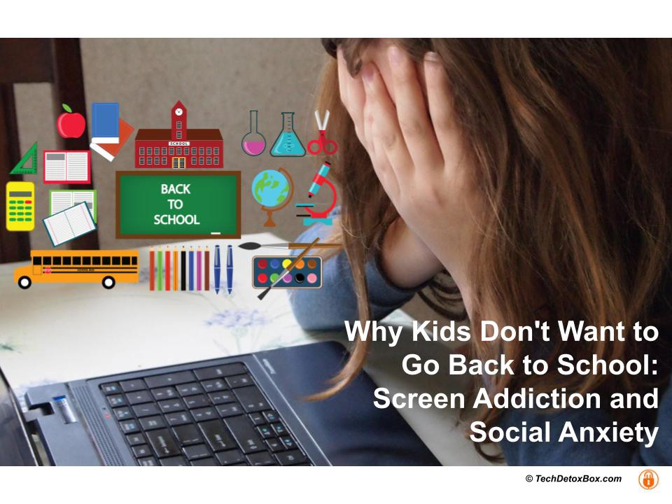 Why kids don't want to go back to school screen addiction and social anxiety techdetoxbox.com