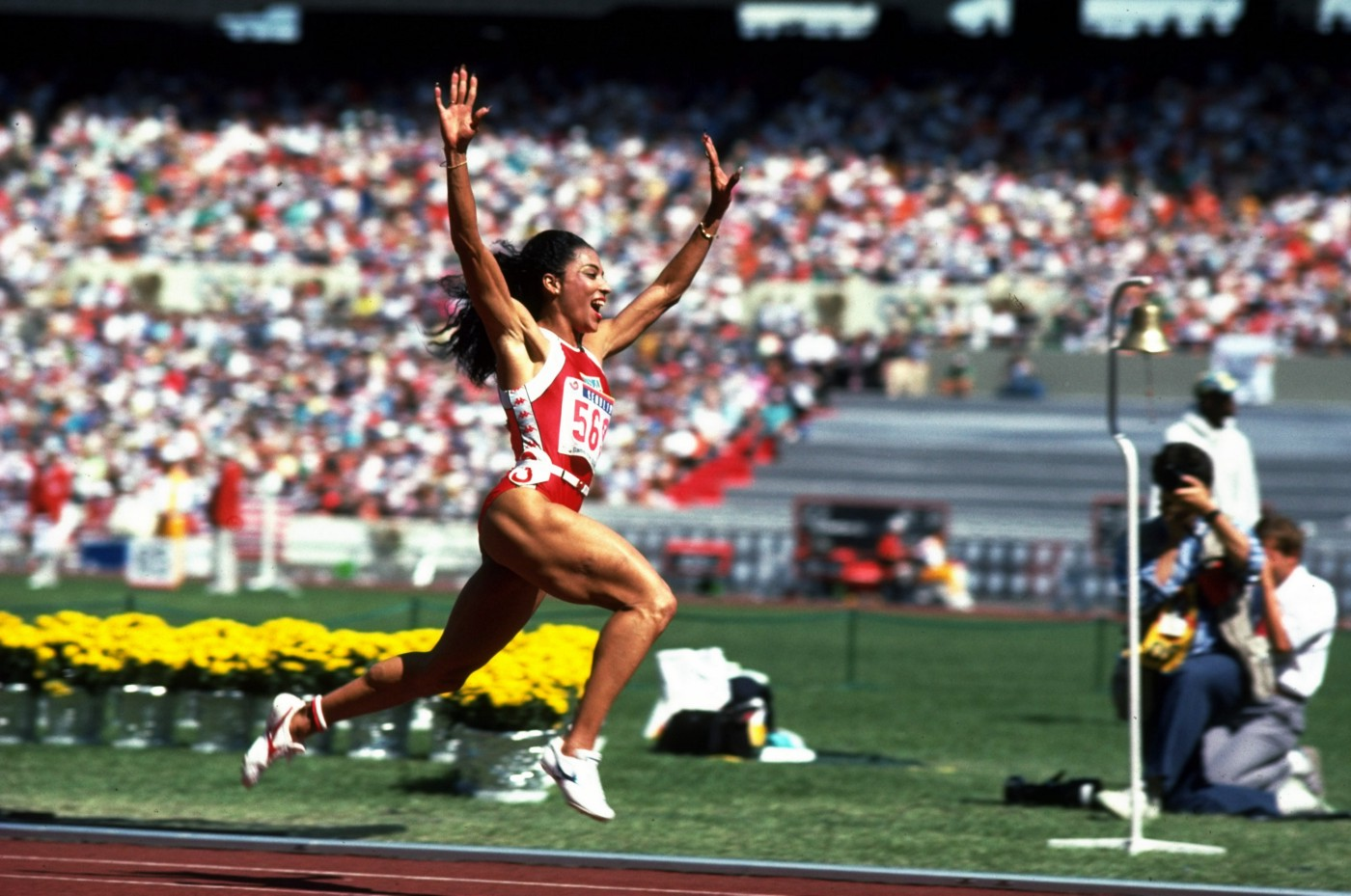 Florence Griffith Joyner at the 1988 Olympics.