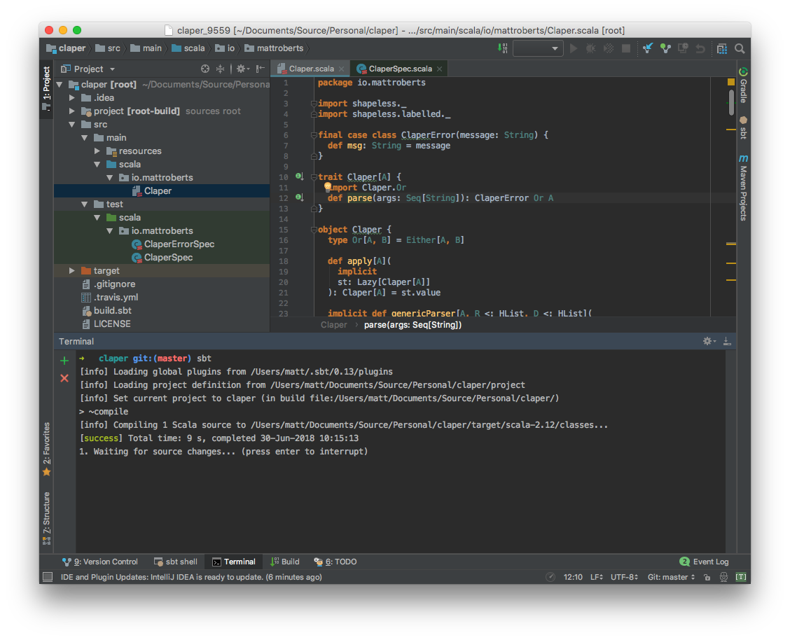 Using Scala, SBT and IntelliJ IDEA - Matt Roberts - Medium